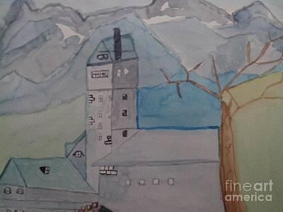 Wasacher Wasserturm Art Print by Alexander Christian Schilder