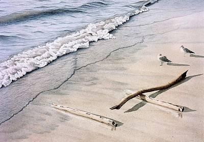 Wasaga Beach Surf Art Print by Conrad Mieschke