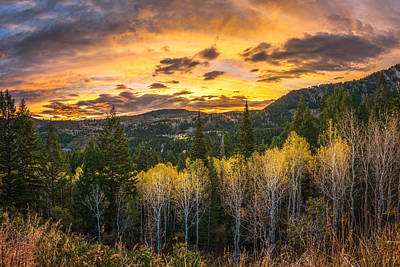 Wasatch Autumn Sunrise Art Print by James Udall