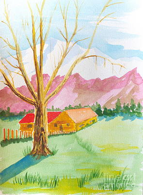Painting - Big Cottonwood, Wasatch Farm,morgan, Ut by Walt Brodis