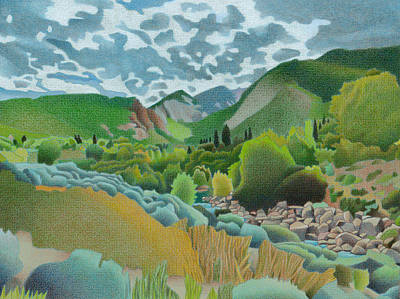 Drawing - Wasatch Mountains by Dan Miller