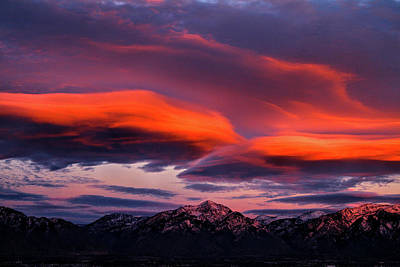 Photograph - Wasatch Sunrise II by Paul Marto