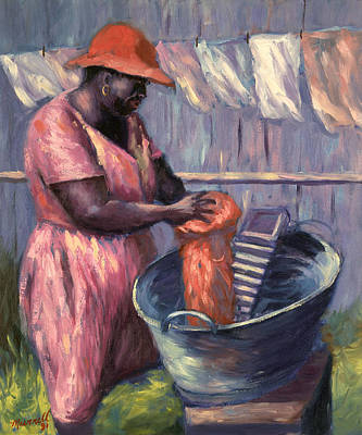 Rack Painting - Wash Day by Carlton Murrell