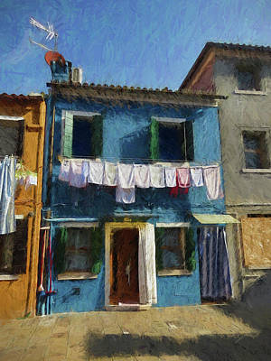 Photograph - Wash Day In Burano, Italy by Helaine Cummins