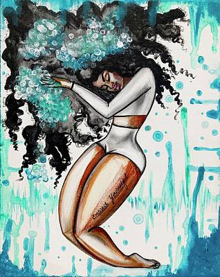 Natural Hair Painting - Wash Day by RiA RiA