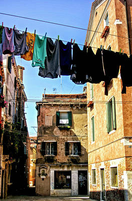 Photograph - Wash Day Venice by Christopher Rees