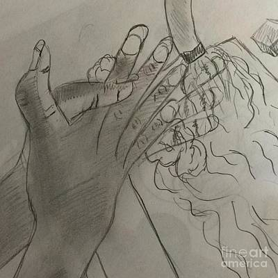 Drawing - Wash Hands by Charita Padilla