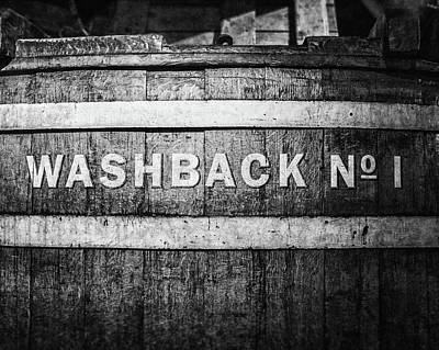 Photograph - Washback No. 1 In Black And White by Lisa Russo