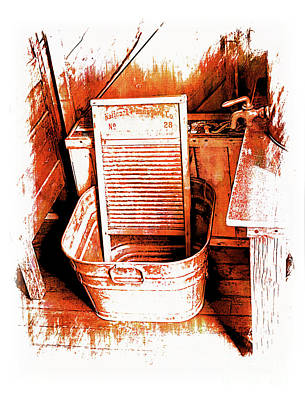 Washtub Photograph - Washboard At The Bar U by Al Bourassa