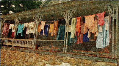 Photograph - Washday Alton Nh by Wayne King