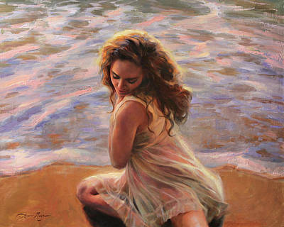 Sandy Beaches Painting - Washed Ashore by Anna Rose Bain