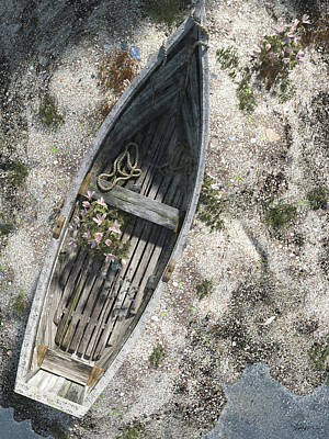 Canoe Digital Art - Washed Ashore by Cynthia Decker