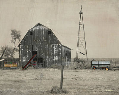 Washed Out Barn Art Print by Kathy M Krause