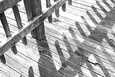 Photograph - Washed Out Boardwalk Shadows by Karen Adams
