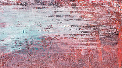 Washed Out - Bright Red Contemporary Abstract Art Print by Modern Art Prints