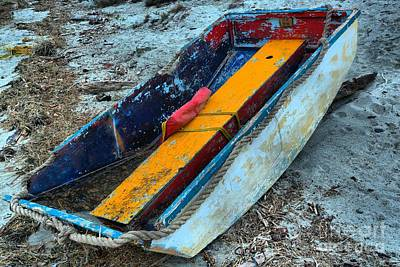 Photograph - Washed Up Dinghy by Adam Jewell