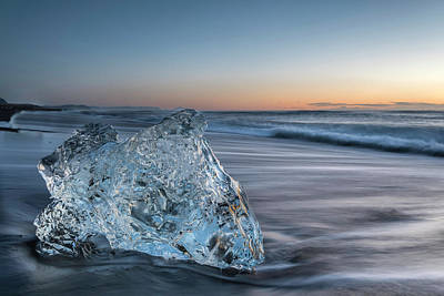 Photograph - Washed Up Ice At Dawn by Scott Cunningham