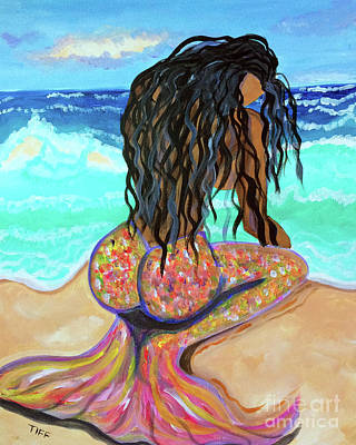 Painting - Washed Up - Mermaid by TIFF Barrett
