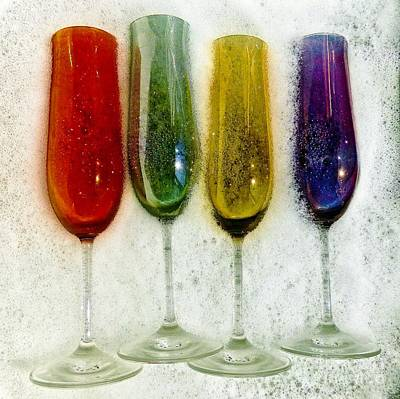 Photograph - Washing  Champagne Glasses by Corlyce Olivieri
