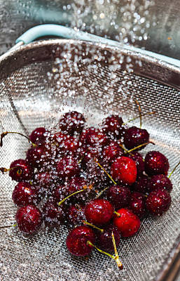 Photograph - Washing Cherries by Jon Glaser