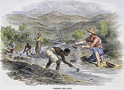 Washing For Gold, 1849 Art Print by Granger