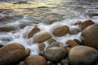 Photograph - Washing Over The Cobblestones Of Boulder Beach by Rick Berk