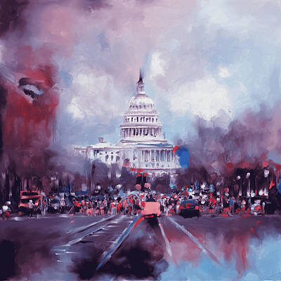 Senate Painting - Washington 478 II by Mawra Tahreem