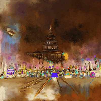 Senate Painting - Washington 478 IIi by Mawra Tahreem
