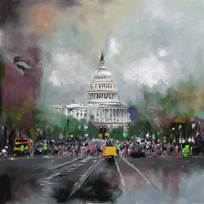 Senate Painting - Washington 478 Iv by Mawra Tahreem