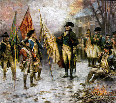 Painting - Washington After Battle Of Trenton - Remastered by Carlos Diaz