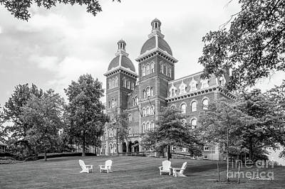 Diploma Photograph - Washington And Jefferson College Old Main by University Icons