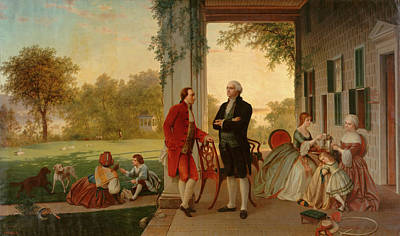 Washington And Lafayette At Mount Vernon Art Print