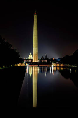 Photograph - Washington At Night by Pete Federico