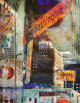 Digital Art - Washington Ave. 2 by Susan Stone