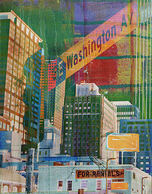 Digital Art - Washington Avenue by Susan Stone