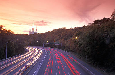 Washington Beltway Traffic, Route 495 Art Print by Richard Nowitz