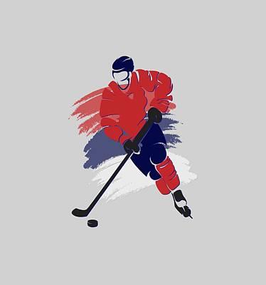 Washington Capitals Photograph - Washington Capitals Player Shirt by Joe Hamilton