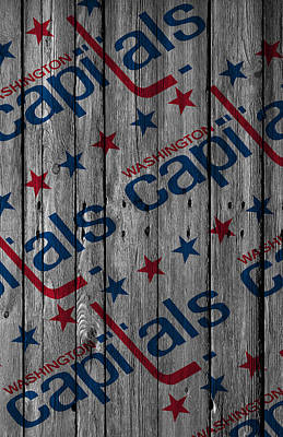 Digital Art - Washington Capitals Wood Fence by Joe Hamilton