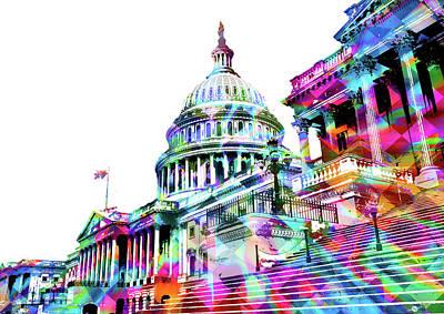 Painting - Washington Capitol Color 1 by Tony Rubino