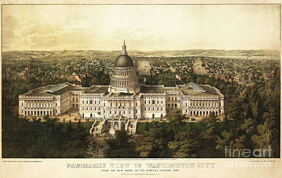 Washington City 1857 Art Print