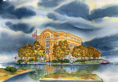 Architectur Painting - Washington County Courthouse by Ragon Steele