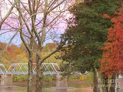 Upper Delaware River Photograph - Washington Crossing Autumn by Anne Ditmars