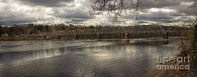 Panoramic Photograph - Washington Crossing Bridge Panorama by Tom Gari Gallery-Three-Photography