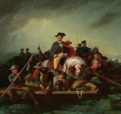 Washington Crossing The Delaware - Detail Art Print