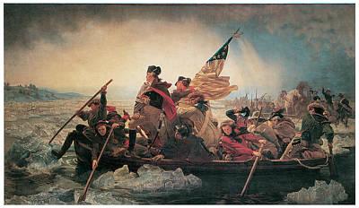 Washingtons Crossing Painting - Washington Crossing The Delaware by Emanuel Leutze