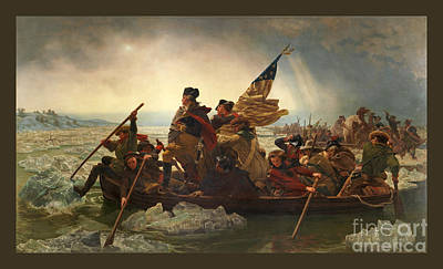 Washington Crossing The Delaware Art Print by John Stephens