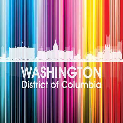 Digital Art - Washington Dc 2 Squared by Angelina Vick