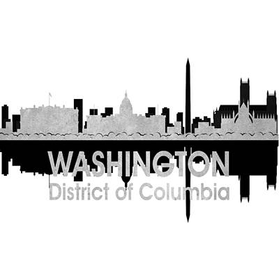 Digital Art - Washington Dc 4 Squared by Angelina Vick