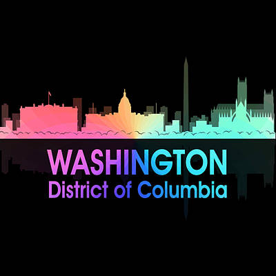 Digital Art - Washington Dc 5 Squared by Angelina Vick