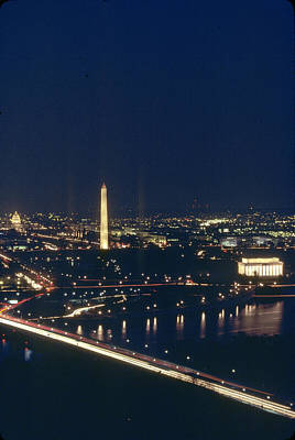 Washington D.c. At Night, Seen Art Print by Kenneth Garrett